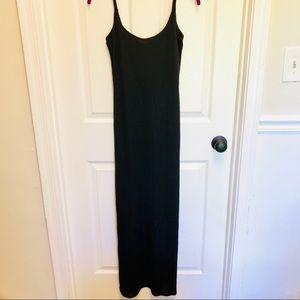 Banana Republic Long solid Black Slip Maxi Dress
